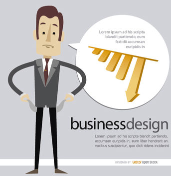 Business man bankrupt - Free vector #179991