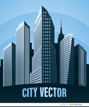 City buildings poster - vector #180011 gratis