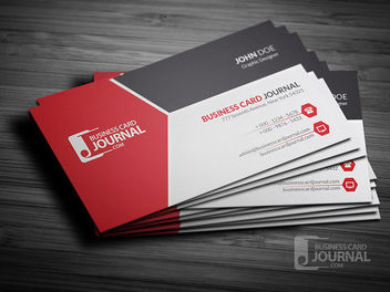 Tricolor Modern Corporate Business Card - Free vector #180031
