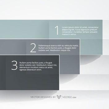 Piled Up Blue Grey Rectangles Infographic - vector gratuit #180081