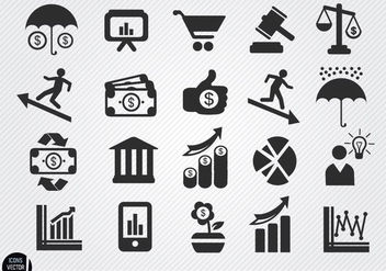 Economic icons set - бесплатный vector #180131