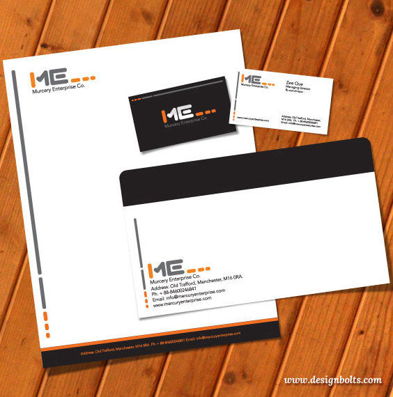 Print Ready Standard Stationary Template - vector gratuit #180181