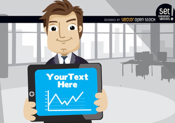 Executive showing chart in tablet - vector gratuit #180201