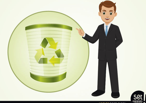 Businessman Presenting Recycle Process - Free vector #180241