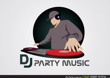 DJ Party Logo - Free vector #180291