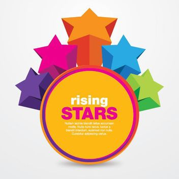 Colorful Rising Stars Circle Message - vector gratuit #180341