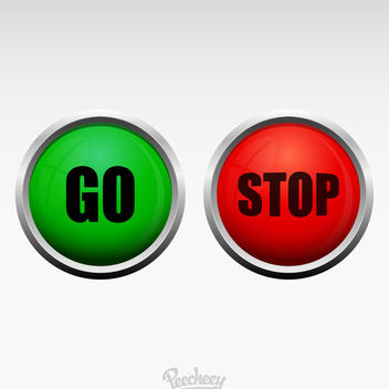 Red Green Stop Go Buttons - vector gratuit #180371