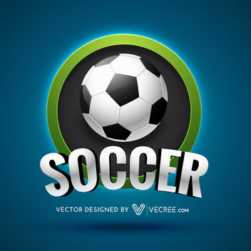 Soccer Sports Beautiful Logo Design - Kostenloses vector #180431