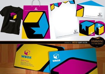 Branding WBox design for stationery and t-shirts - vector gratuit #180491