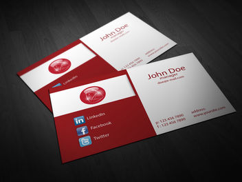 Abstract 2 Fold Corporate Business Card - vector gratuit #180511