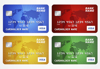 Stunning Credit Card Template - vector gratuit #180531