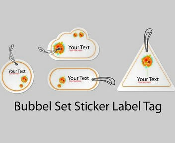 Bubble Shape Sticker Label Pack - Free vector #180571