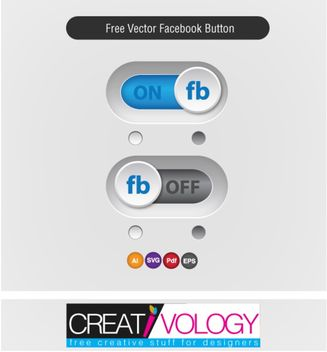 Glossy On Off Slider FB Button - vector gratuit #180601