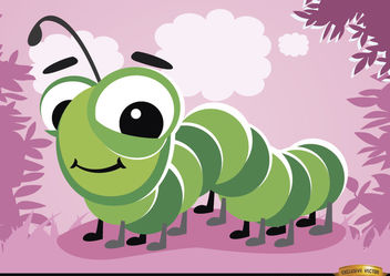 Cartoon Caterpillar bug - Free vector #180781