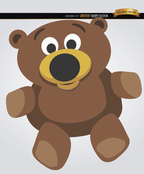 Teddy bear cartoon - Free vector #180861