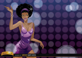 Attractive African girl dances in a party - Free vector #180991