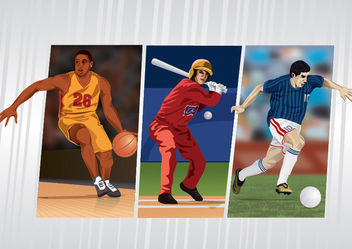 Basketball baseball football sports - Free vector #181071