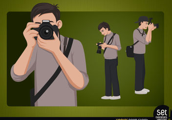 Photographer Young Character - vector #181121 gratis