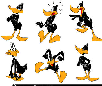 Funky Daffy Duck Cartoon Pack - Free vector #181131