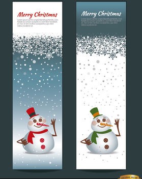 2 Christmas snowman vertical bookmarks - Free vector #181191