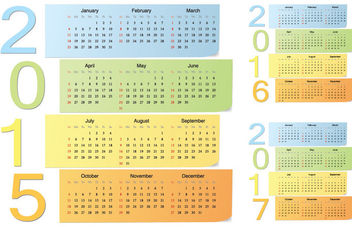 Colorful Sticky Note Calendar Pack - Free vector #181201