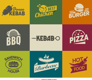 Fast Food Logos - Free vector #181381