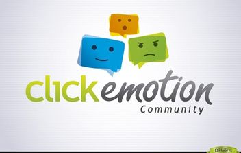 Funky Emoticon Colorful Logo Template - Free vector #181421