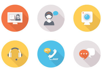 Chat CRM Contact Icon Pack - vector #181571 gratis