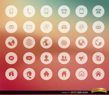 30 Communication internet icons - vector #181631 gratis