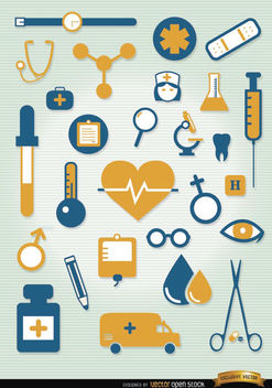 Hospital icons set - Free vector #181681