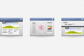 3 Desktop Program Interface Icons - Free vector #181741