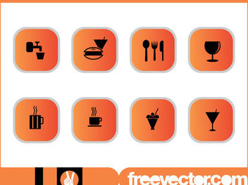 Food & Drinks Icon Pack - vector #181781 gratis