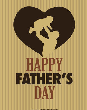 Happy Father's day Heart - Free vector #181801