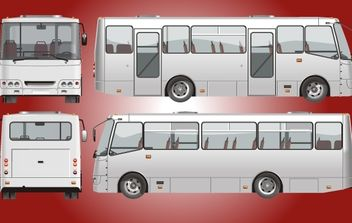 Vintage High Detail City Bus - vector gratuit #181821