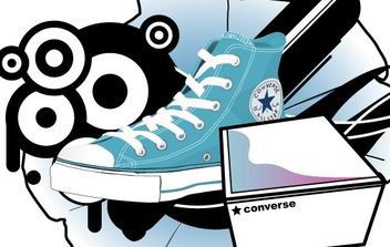 Converse shoe and box - Kostenloses vector #181831