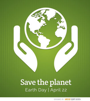 Earth day planet poster - Free vector #181891