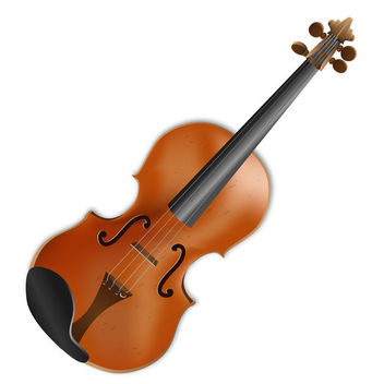 Realistic 4 Strings Acoustic Violin - vector gratuit #182001