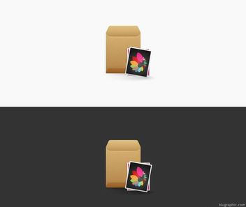 Photo Envelop with Photos - Kostenloses vector #182061