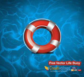Realistic Life Buoy - Free vector #182101