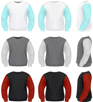 Realistic Sweater Pack Template - vector gratuit #182111