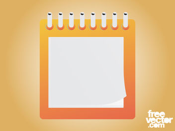 Square Layout Blank Notepad - Free vector #182131