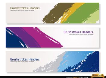 Colorful brushstrokes headers - бесплатный vector #182271