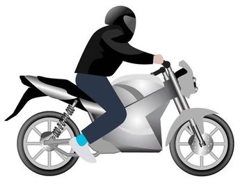 Man Riding Motorbike - Free vector #182401
