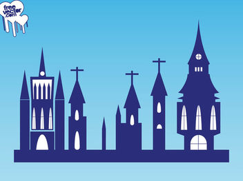 Silhouette Religion Architect of Churches - Free vector #182421