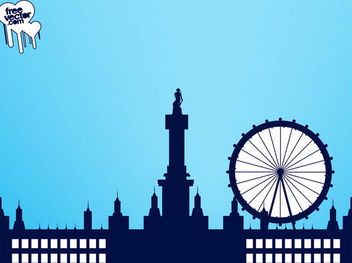 Westminster Skyline London Silhouette - vector gratuit #182431