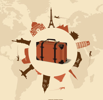 Travel and tourism design - vector gratuit #182501