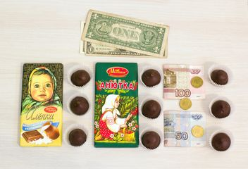 Russian bars of chocolate and candies - image #182591 gratis