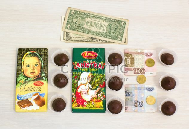 Russian bars of chocolate and candies - image gratuit #182591