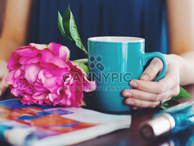 Cup of tea in female hand - Free image #182691