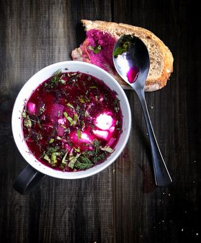 bowl of cold borscht, sup - image #183911 gratis